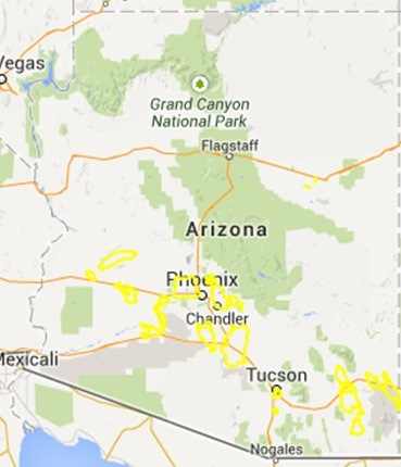 Arizona Land Subsidence Interactive Map