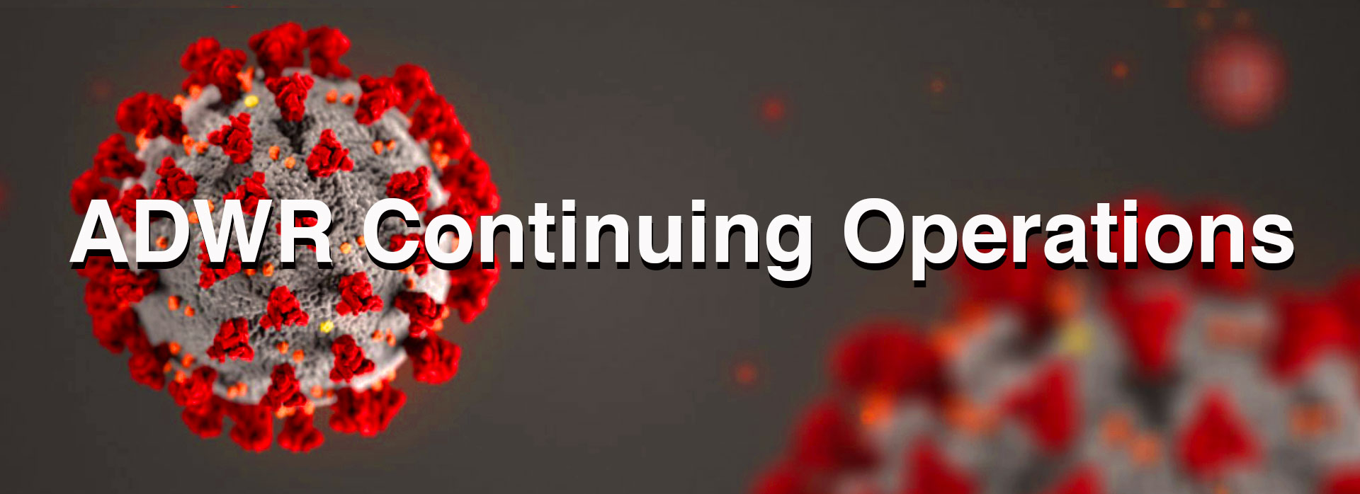 COVID-19: ADWR Continuing Operations banner image