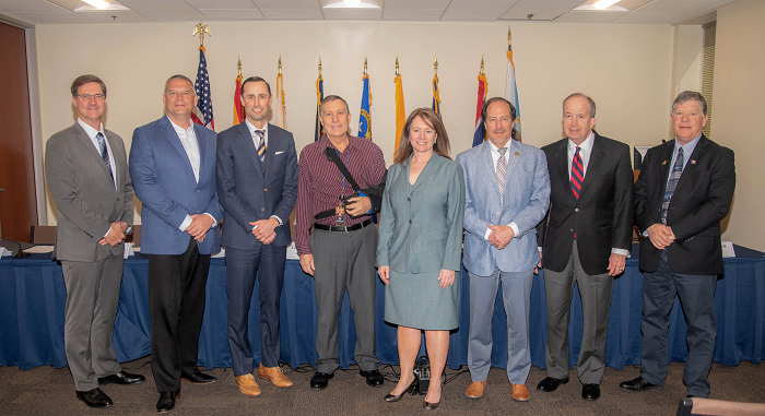 Peter Nelson of California; John J. Entsminger of Nevada; L. James Eklund of Colorado; Tom Buschatzke of Arizona; Bureau of Reclamation Commissioner Brenda Burman; John R. D'Antonio, Jr. of New Mexico; Norm Johnson of Utah; and, Pat Tyrrell of Wyoming