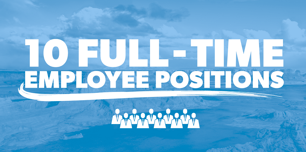 10 full-time employee positions
