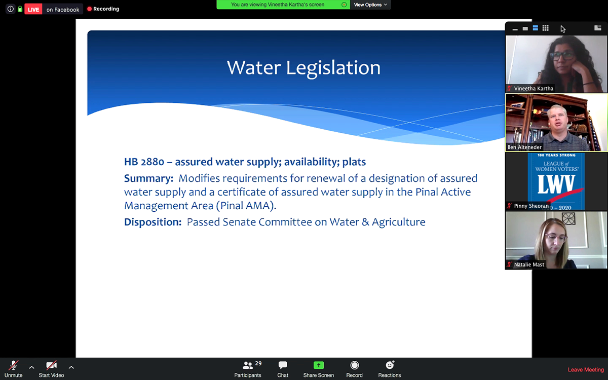 ADWR's Chief Legislative Liaison Ben Alteneder discusses recent water legislation.