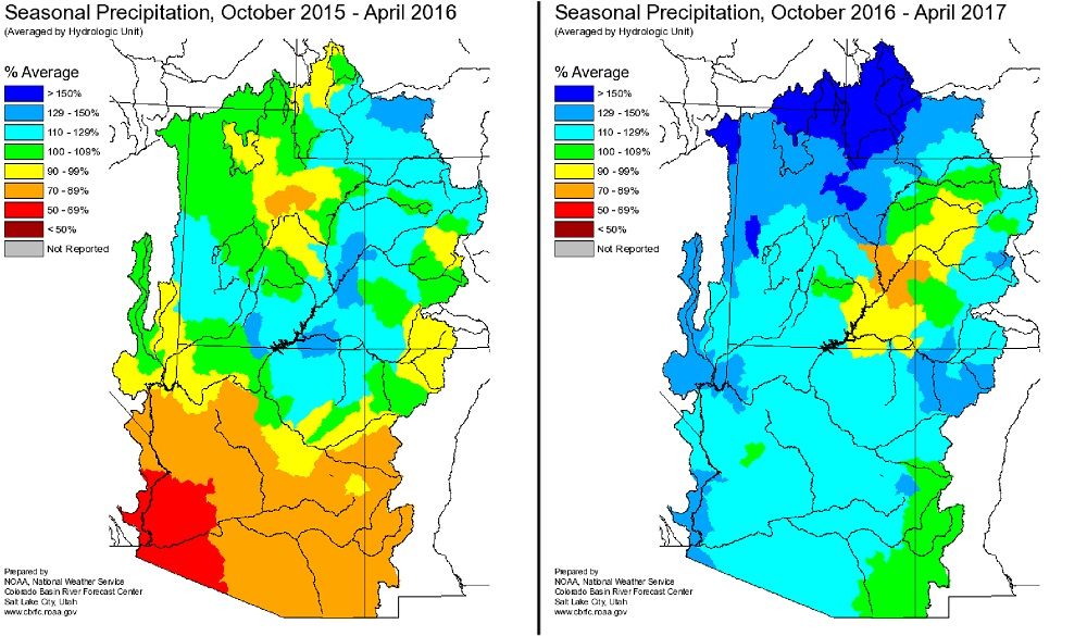 Precipitation Oct 2015-16