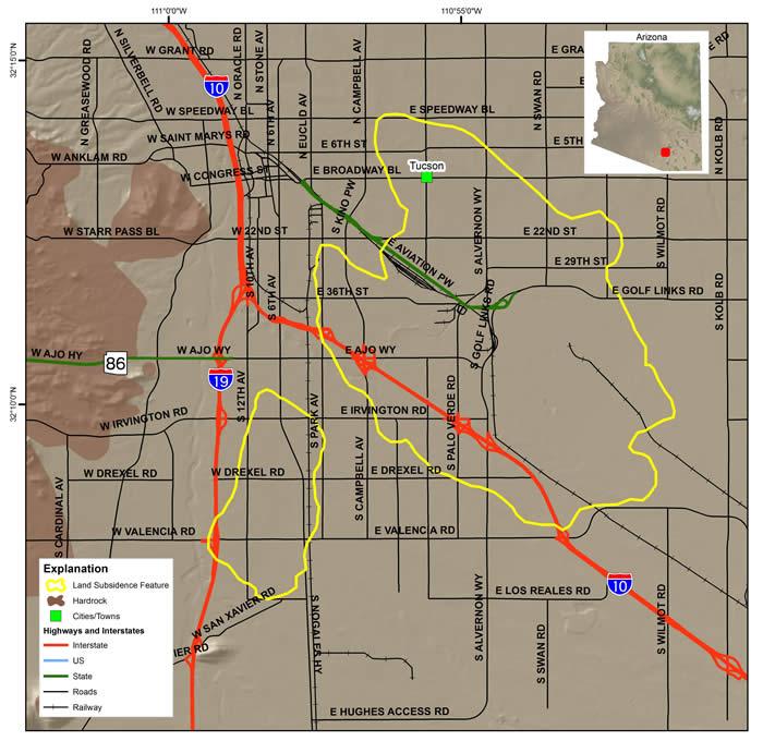 Tucson Land Subsidence