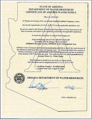Self-Cert Form | Arizona Department of Water Resources