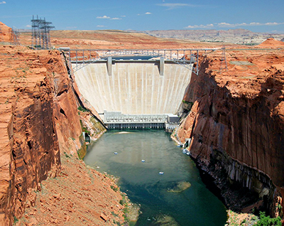 Glen Canyon Dam front view