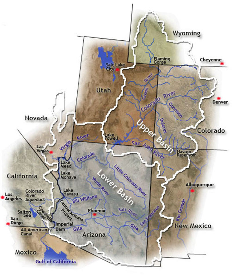 Map Of Colorado River In Arizona.Efforts To Save Lake Mead Flagging Thanks To Cold Wet Winter
