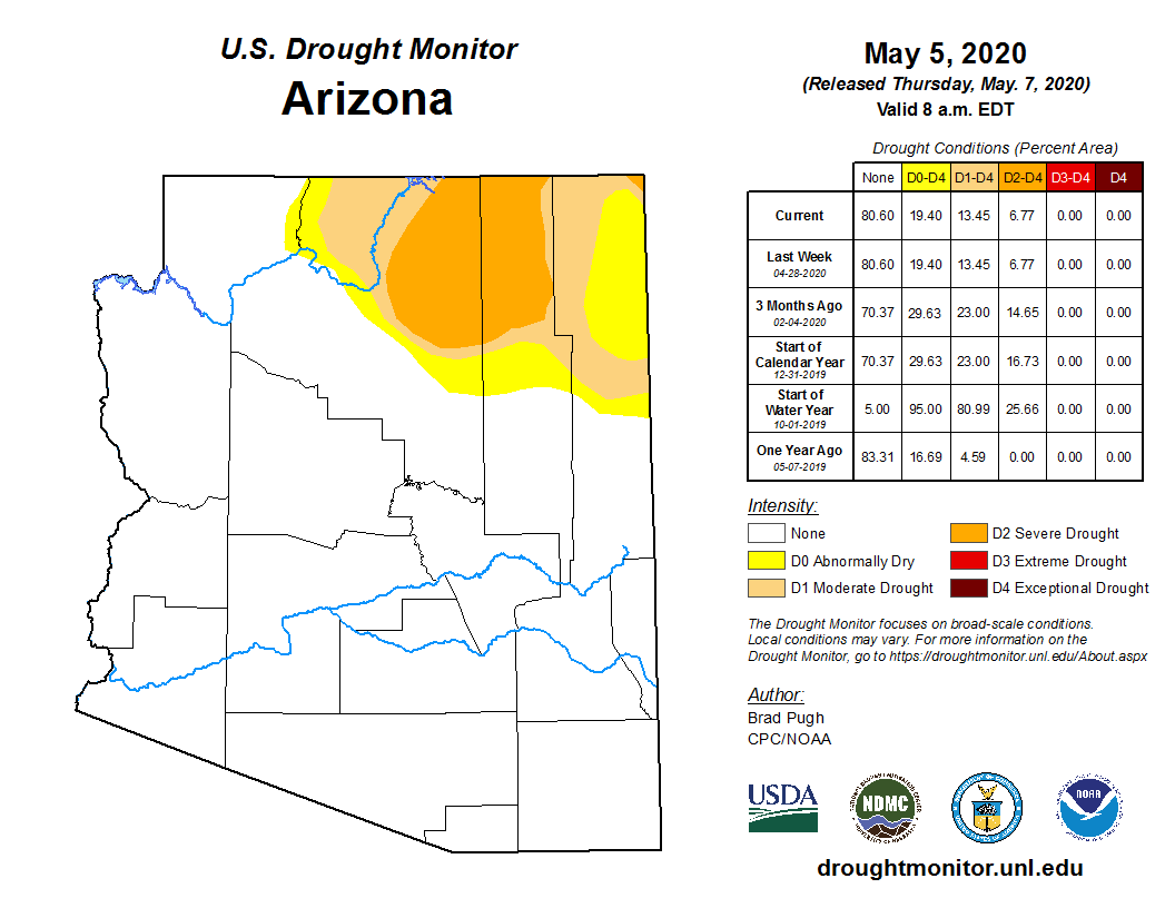 April 2020 Short-term Drought Status Map