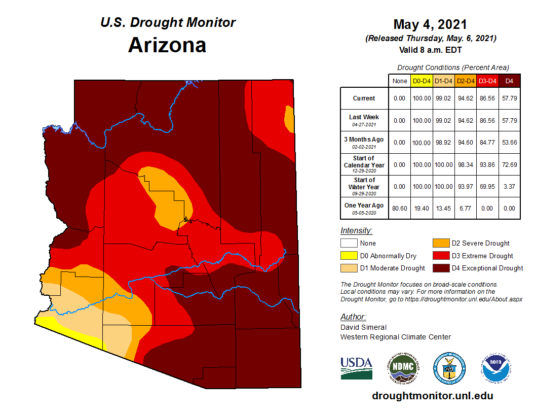 April 2021 Short-term Drought Status Map