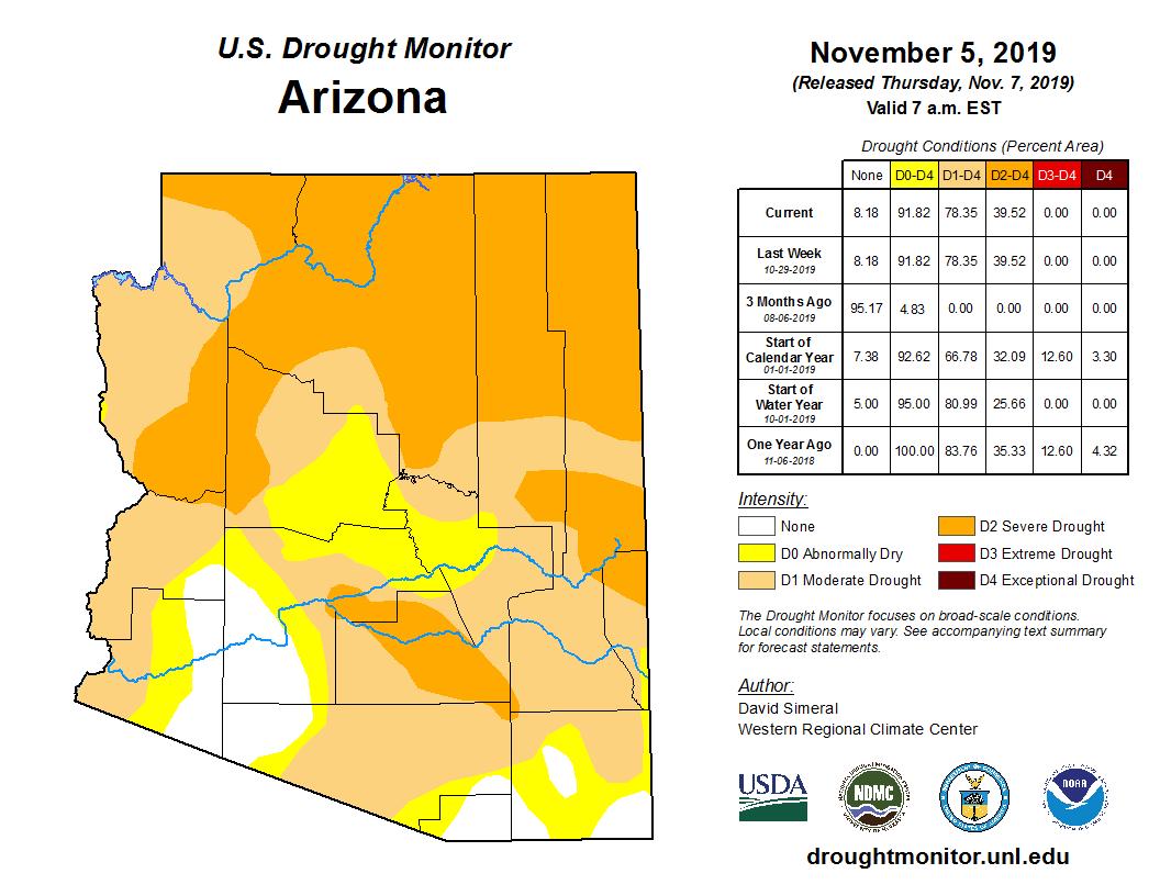 October 2019 Short-term Drought Map