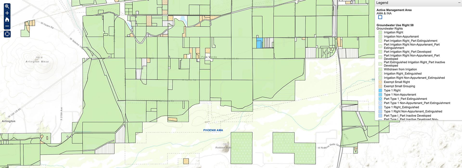 Interactive Map Of Arizona.Adwr To Roll Out New Interactive Groundwater Rights Web Map System