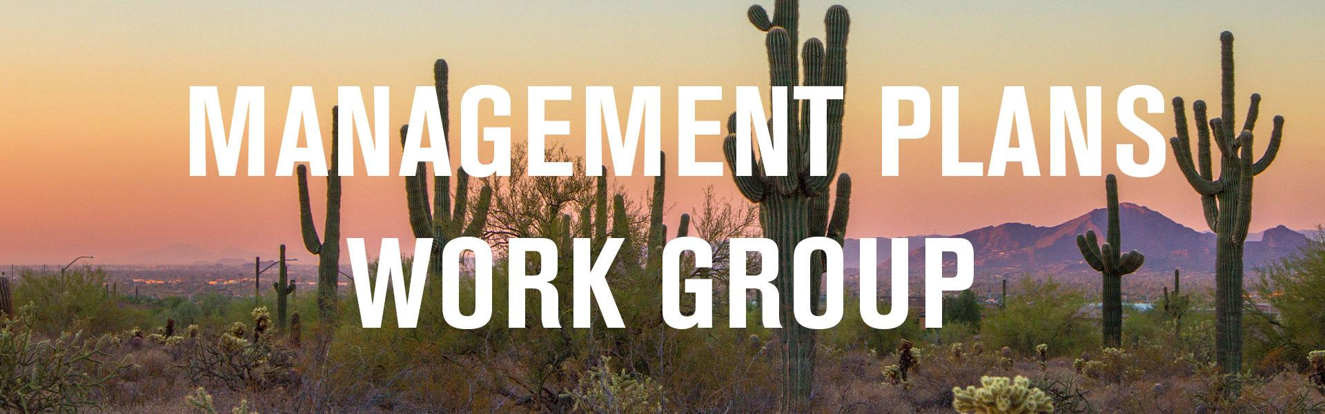 Management Plans Work Group banner
