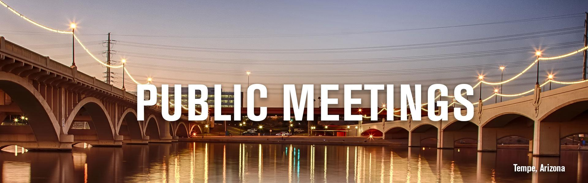 Public Meetings banner image